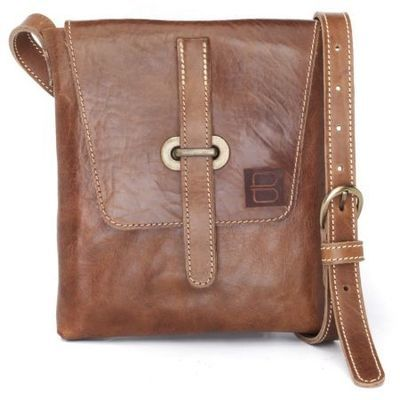 BRAVE Leather Kaja Crossbody Bag in Brown