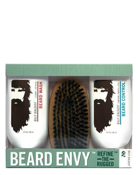 Billy Jealousy Beard Envy 3 Piece Kit - 88ml X 2 + Brush