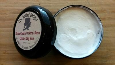 Artful Badger Classic Bay Rum Shave Cream - 240ml / 8oz OR 120ml / 4oz
