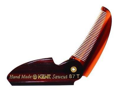 Kent 87T Folding Moustache Comb