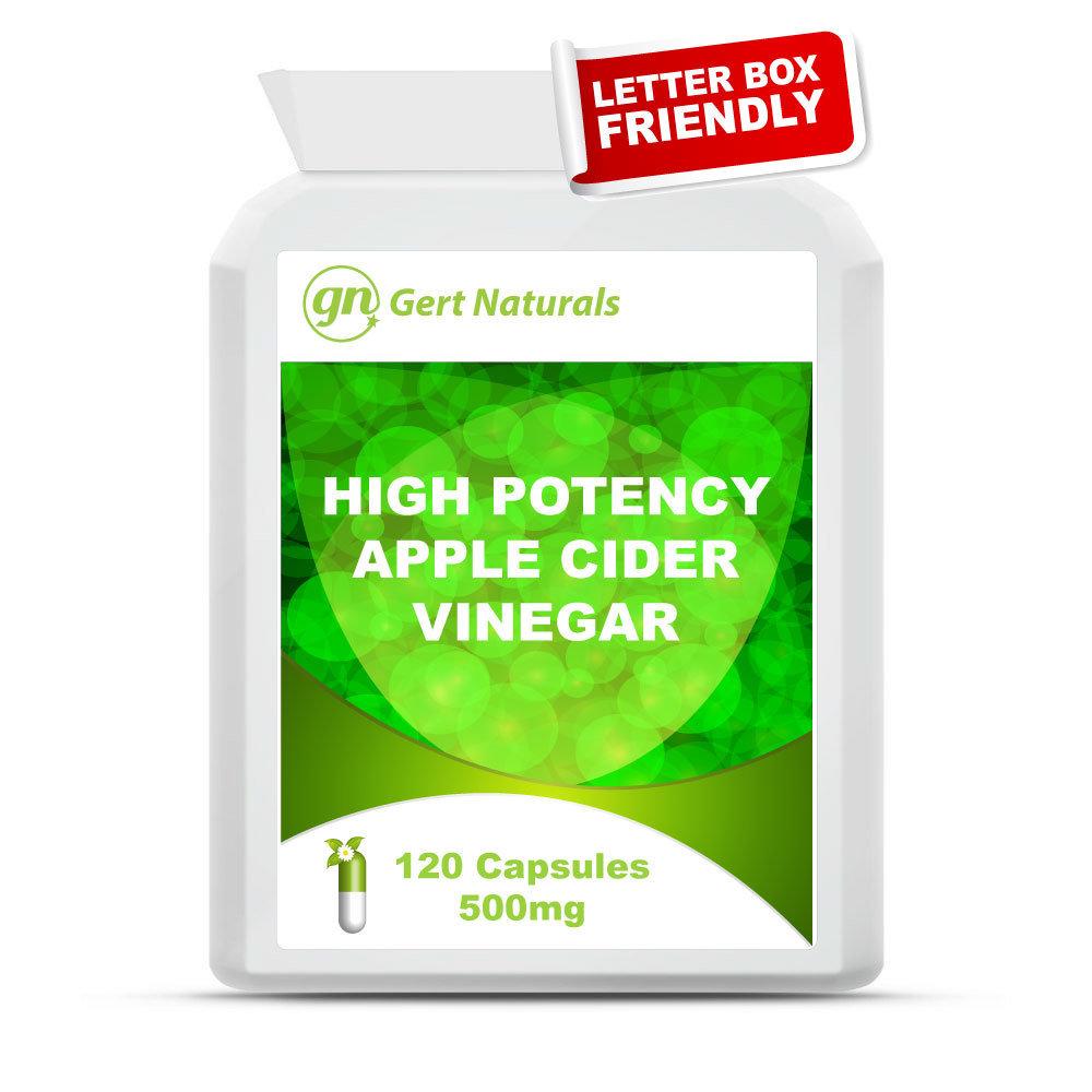 Gert Naturals, High Potency Apple Cider Vinegar, 120 Capsules, 500mg