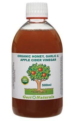 Gert's Organic Honey, Garlic & Apple Cider Vinegar (HGV), 500ml