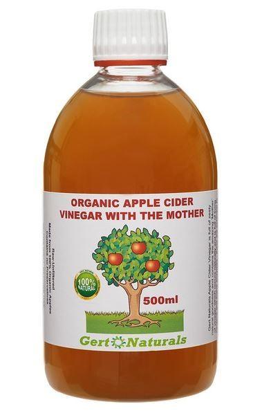 Gert's Organic Apple Cider Vinegar (ACV), 500ml