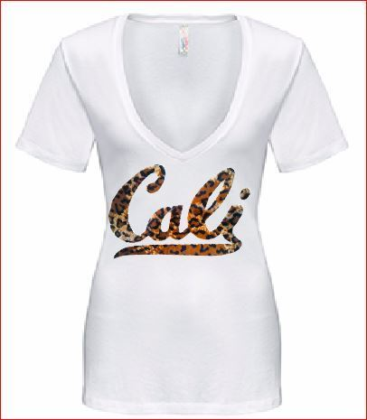 PLUSH CHEETAH FABRIC CALI T SHIRT OR TANK