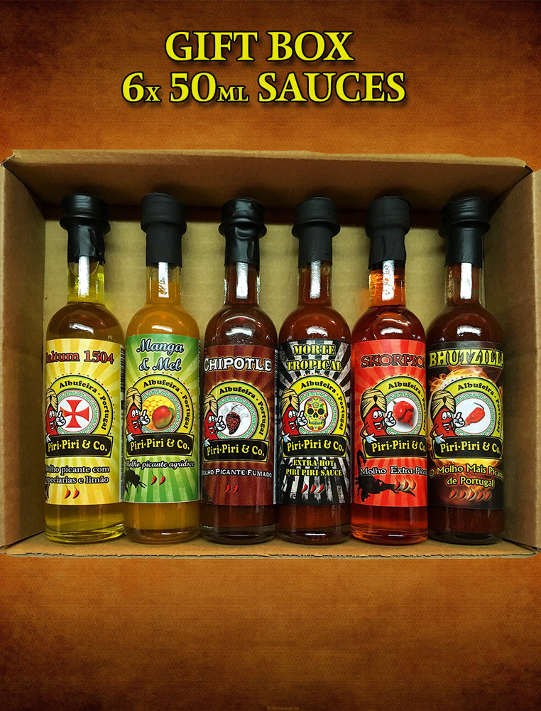 Box set with 6 sauces