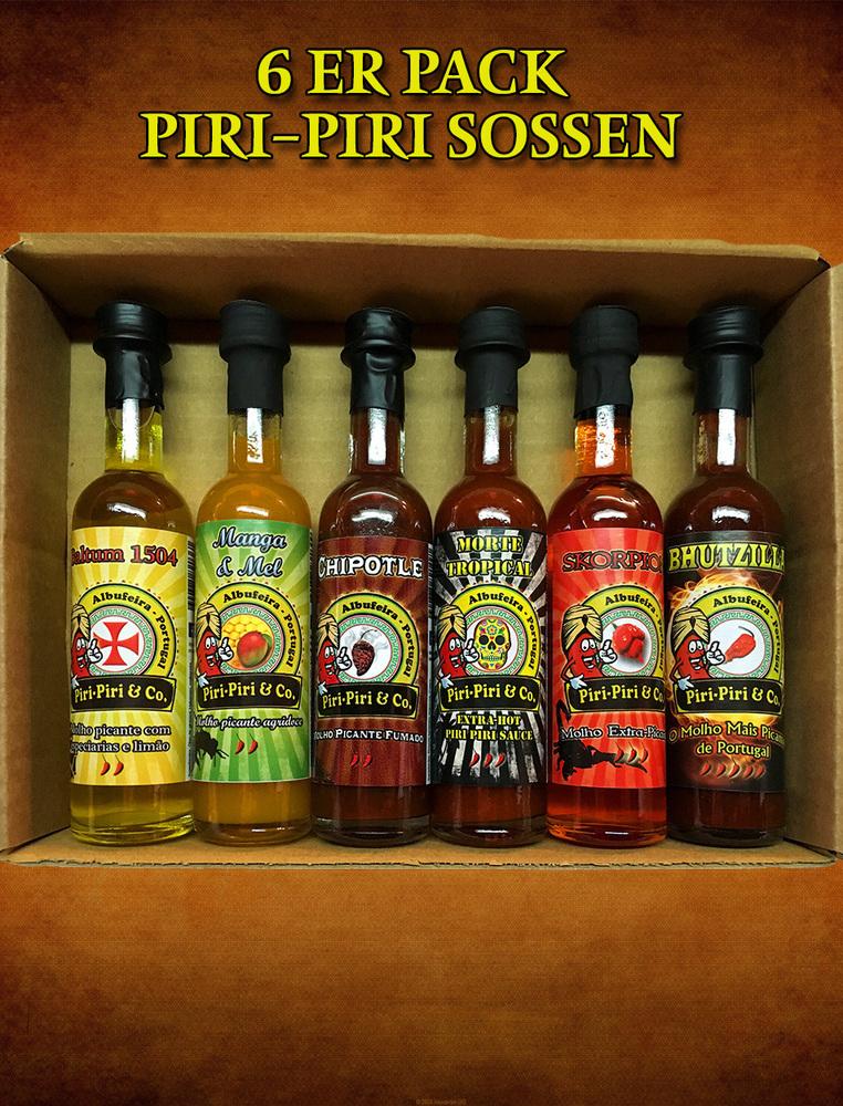 6 er Geschenck Pack - Piri-Piri Sossen 50ml