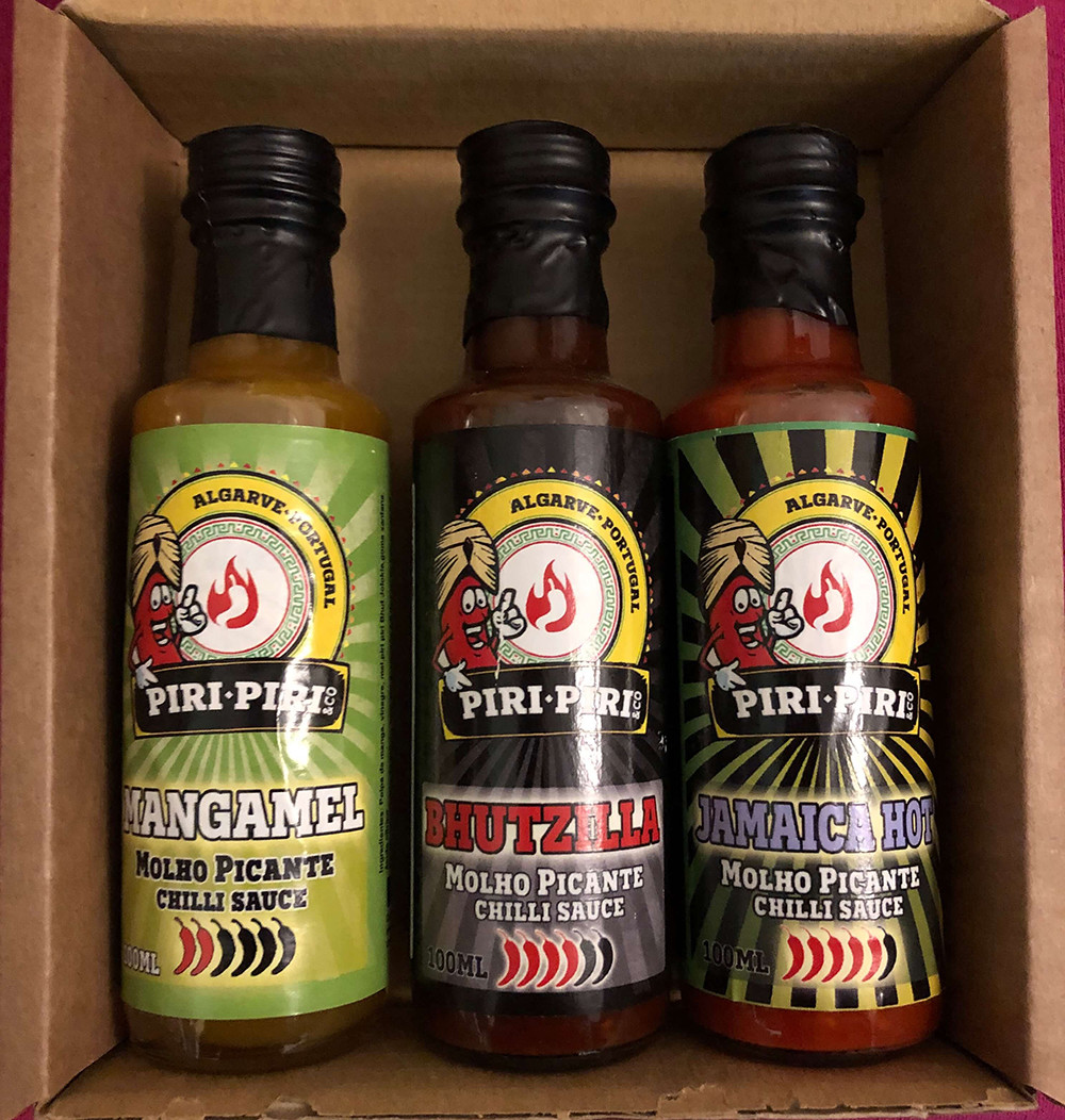 Box set with 3x 100ml sauces