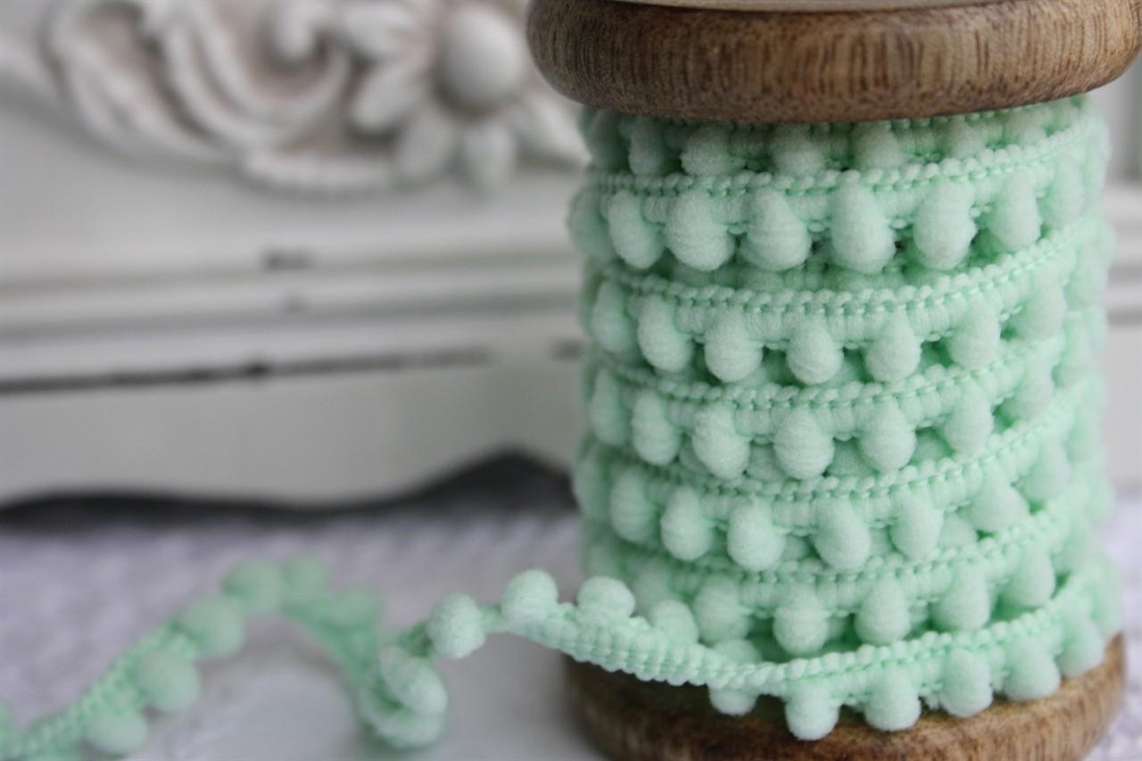 Small Mint Pompoms