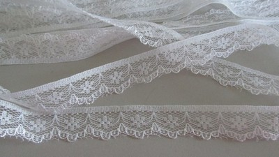 White Floral Scallop Lace