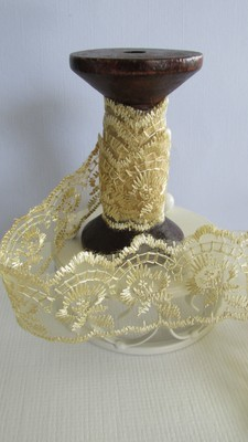Gold Embroidered Organza Lace