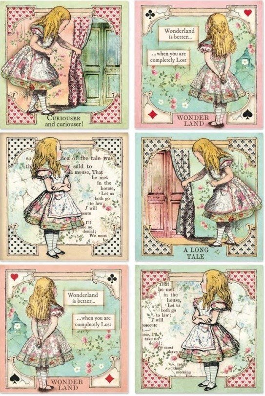 Alice Cards Rice Paper