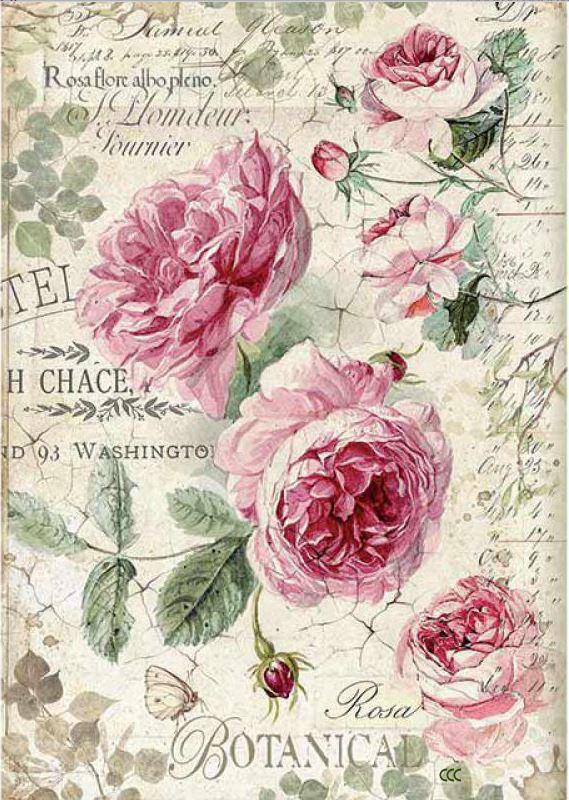 English Roses Rice Paper