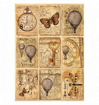 Mixed Media - Postcards Rice Paper