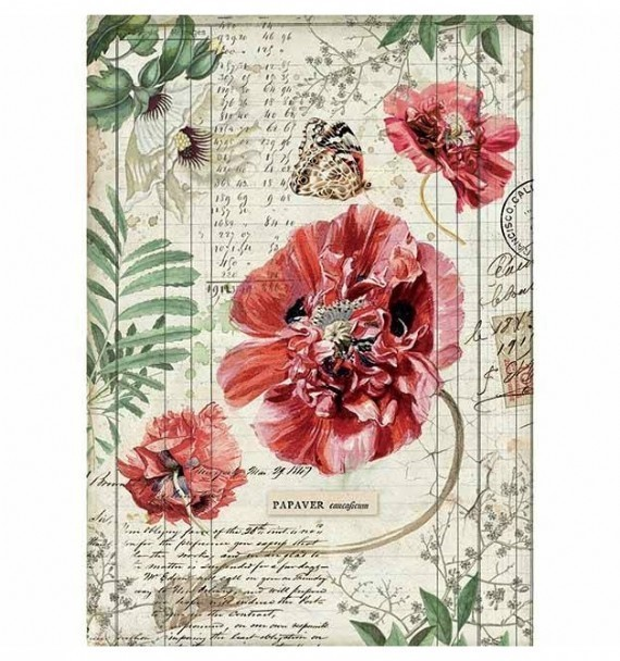 Packed Poppies Rice Paper