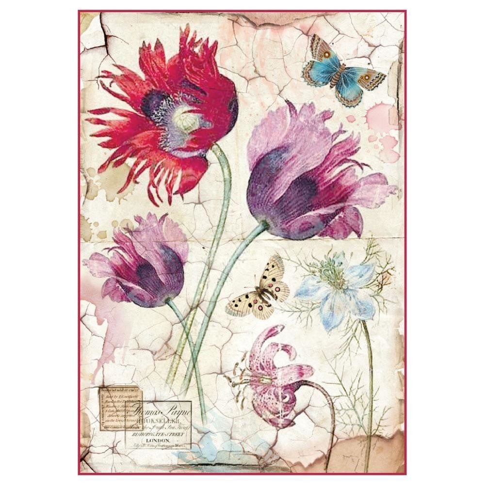 Vintage Tulips Rice Paper
