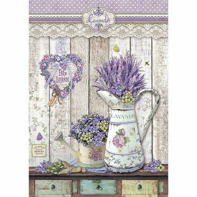 Provence - Watering Cans Rice Paper