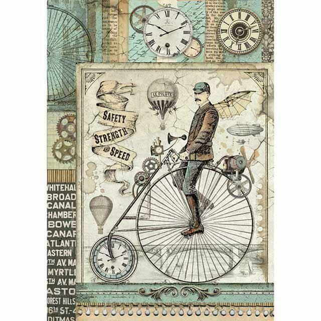 Voyages - Fantastiques Bicycle Rice Paper