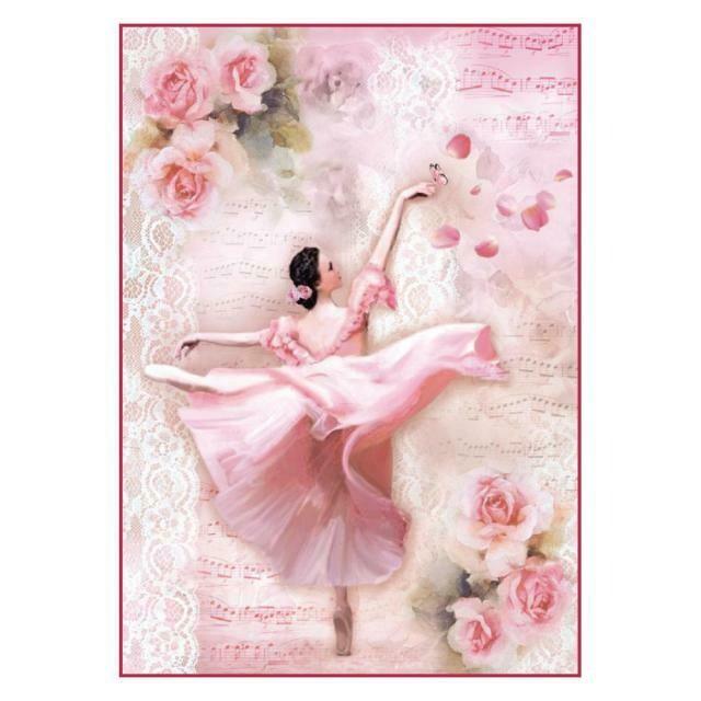 Dancer with Petals Rice Paper
