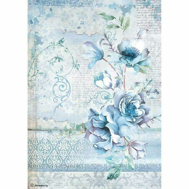 Blue Flower Rice Paper