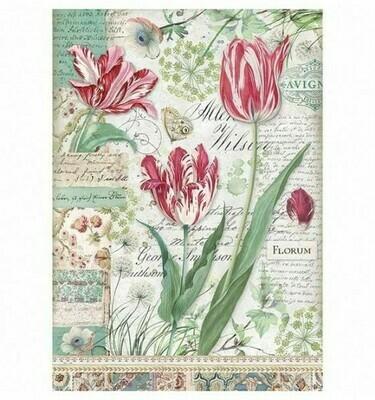 Spring Botanic - Red Tulip Rice Paper