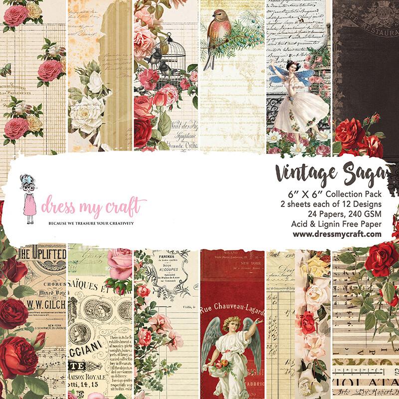Vintage Saga Paper Pad 6x6