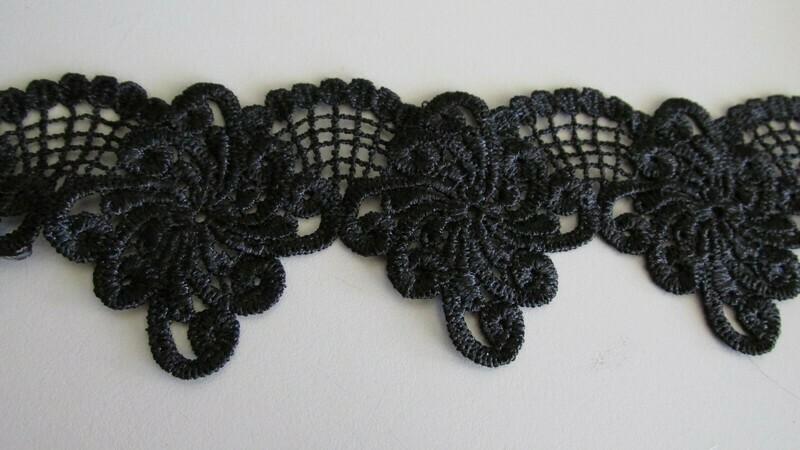Scallop Web Lace - Black