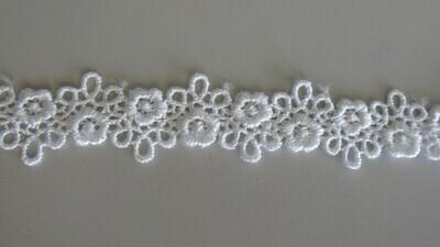 Daisy Chain Lace - White