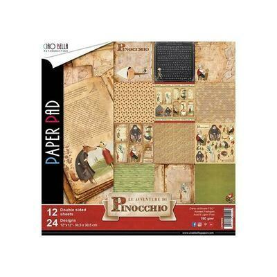 CIAO BELLA Avventure Di Pinocchio 12x12 Paper Pack