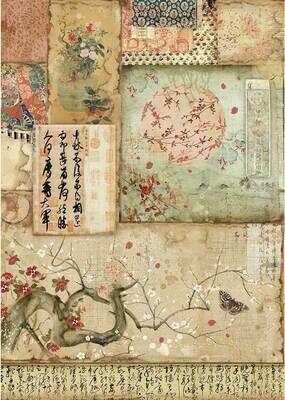 Oriental Garden - Branch Writing Rice Paper