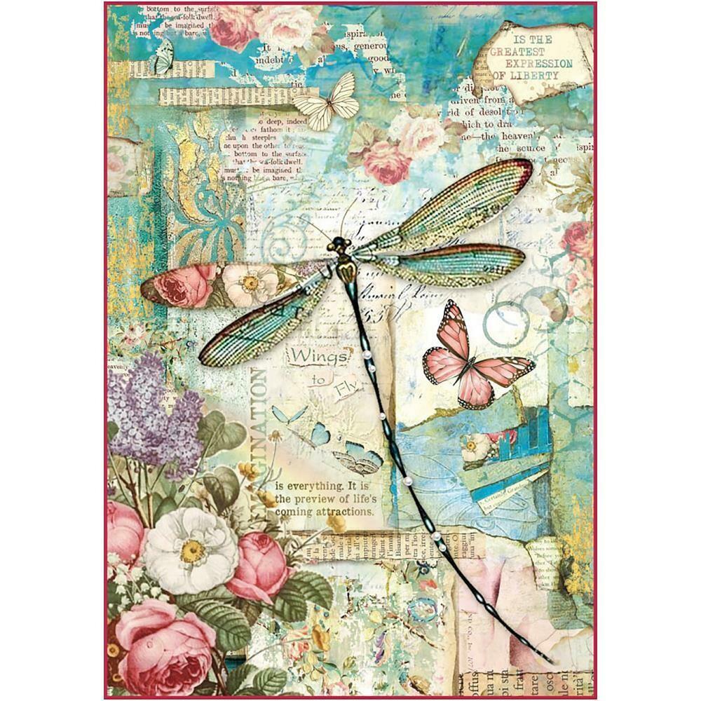 Wonderland - Dragonfly Rice Paper
