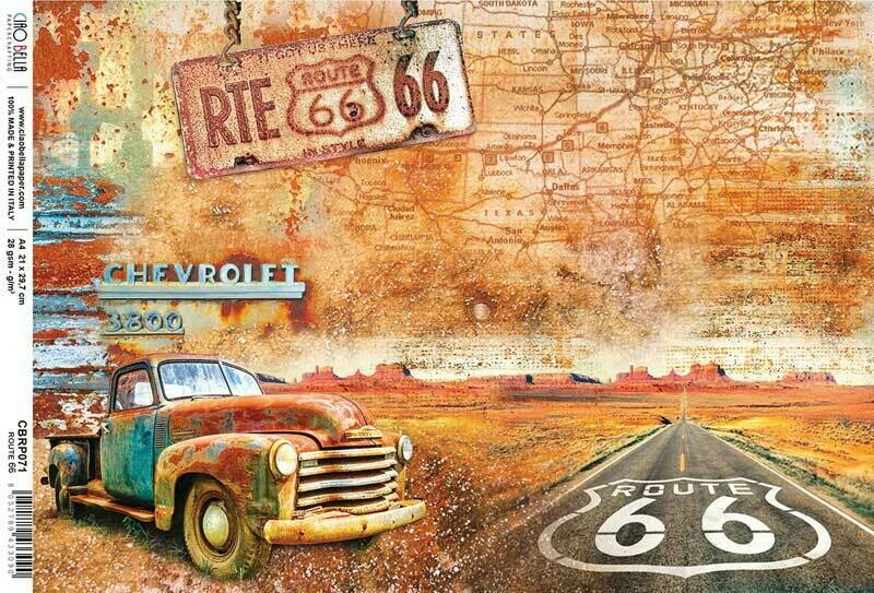 Collateral Rust - Route 66 Rice Paper