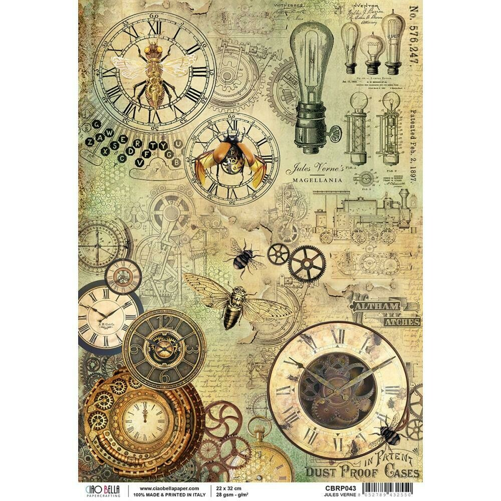 Voyages Extraordinaires - Jules Verne Rice Paper