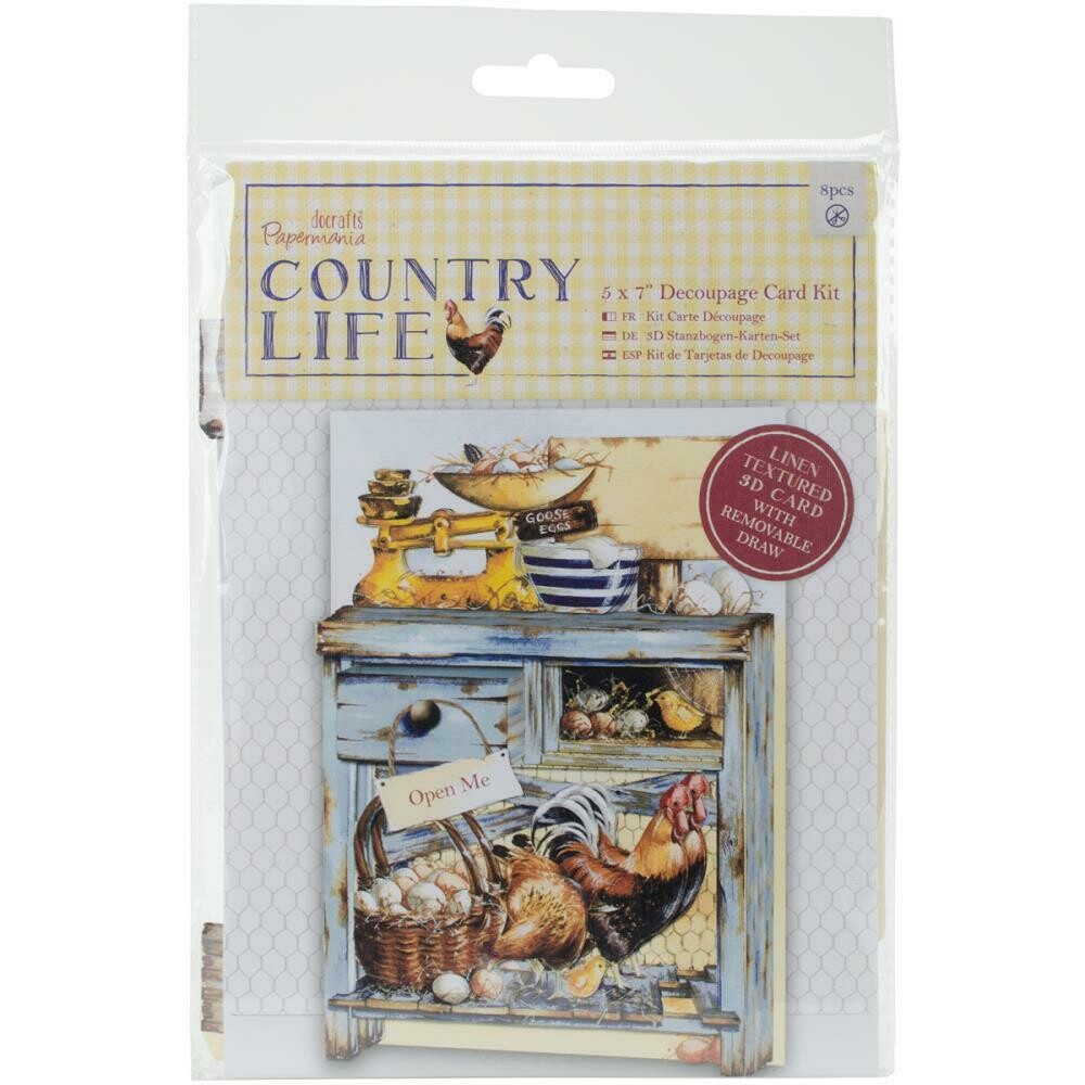 """Papermania """"Country Life"""" Decoupage Card Kit"""