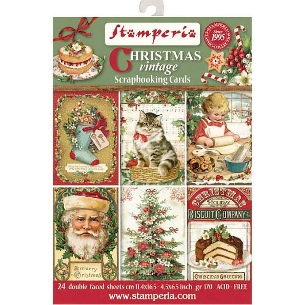 CHRISTMAS VINTAGE SCRAPBOOKING CARDS