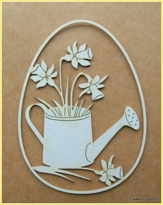 Watering Can with Daffodils Egg