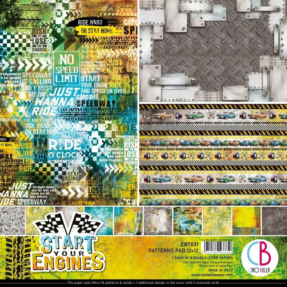 Start Your Engine 12x12 Patterns Pad