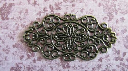 Antique Bronze Filigree x 4