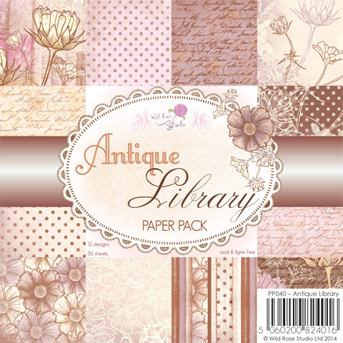 Antique Library 6 x 6 Paper Pack