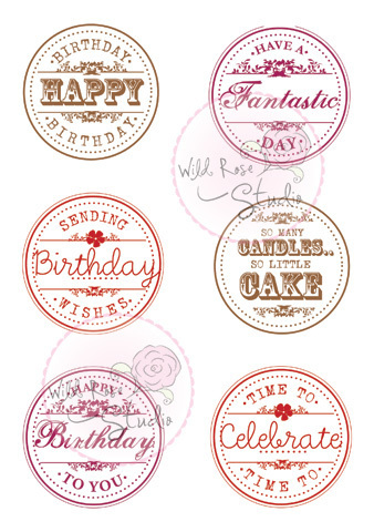 Birthday Circles Clear Stamp Set