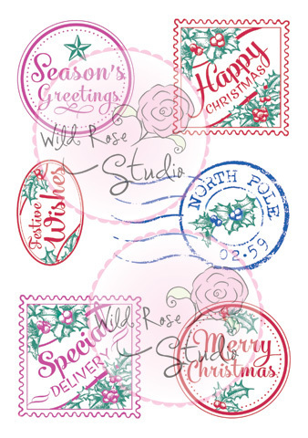 Christmas Labels Clear Stamp Set