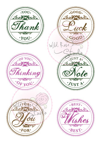 Circle Greetings Clear Stamp Set