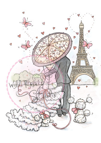 Parisian Stroll Clear Stamp