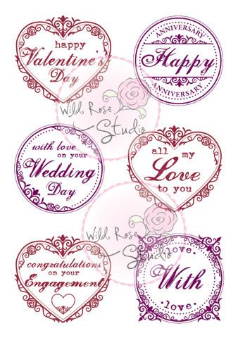 Romantic Greetings Clear Stamp Set