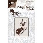 Vintage Flourishes - 2 Birds on Branch die