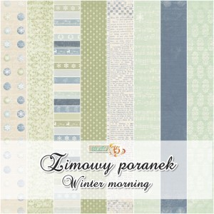 Winter Morning 6x6 Paper set