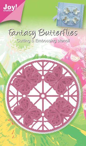 Fantasy Butterfly Round die