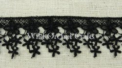 Black Star Flower Lace