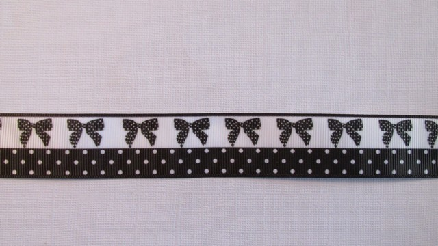 Black Bows & Spots - 25mm