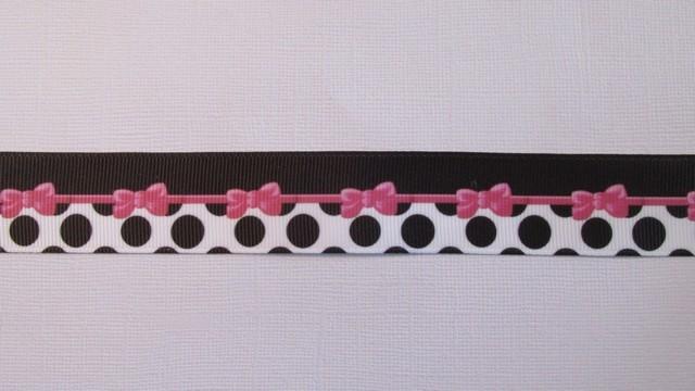 Pink Bows & Dots - 25mm