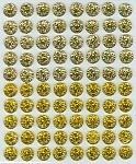 Diamond Gems 80pcs - Light & Dark Gold